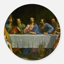 The Last Supper Round Car Magnet