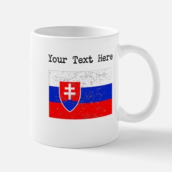Slovakia Flag (Distressed) Mugs