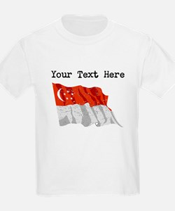 Singapore Flag (Distressed) T-Shirt