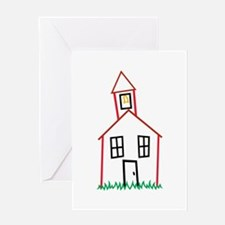 Schoolhouse Greeting Cards