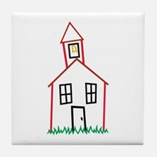 Schoolhouse Tile Coaster