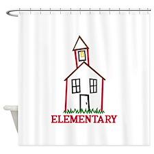 Elementary Shower Curtain