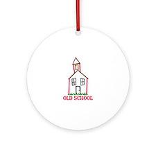 Old School Ornament (Round)
