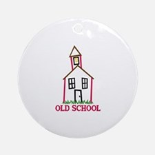 Old School Ornament (Round)