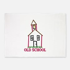 Old School 5'x7'Area Rug