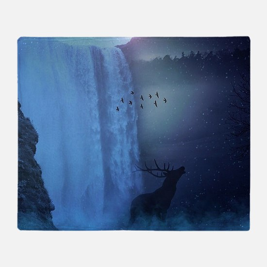 Wildlife and Waterfalls Throw Blanket