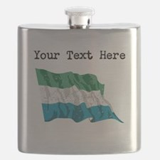 Sierra Leone Flag (Distressed) Flask