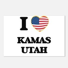 I love Kamas Utah Postcards (Package of 8)
