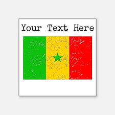 Senegal Flag (Distressed) Sticker