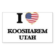I love Koosharem Utah Decal