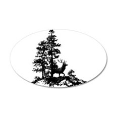 Black White Stag Deer Animal Nature Decal Wall Sti