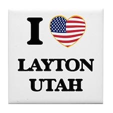 I love Layton Utah Tile Coaster