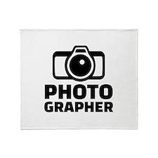 Photographer Throw Blanket