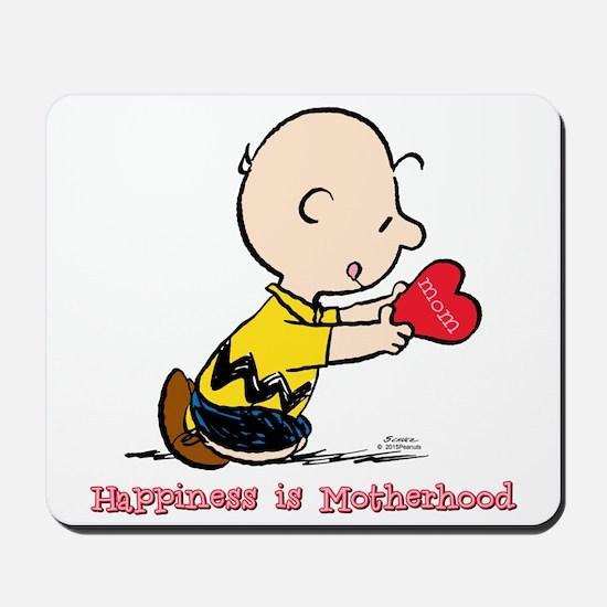 Charlie Brown - Happiness Is Motherhood Mousepad