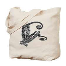 Simian Skateboarder Tote Bag