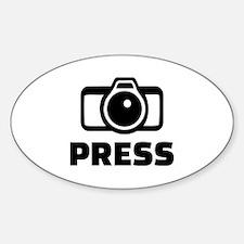 Press camera Sticker (Oval)