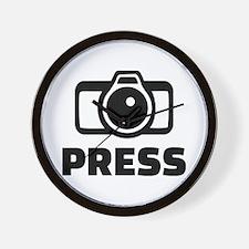 Press camera Wall Clock
