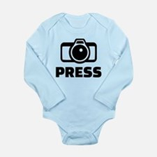 Press camera Long Sleeve Infant Bodysuit