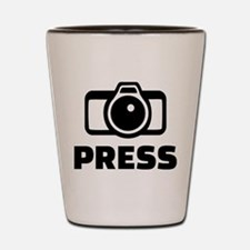 Press camera Shot Glass
