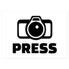 Press camera Invitations