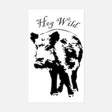 Unique Wild boar Sticker (Rectangle)