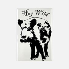 Unique Wild boar Rectangle Magnet