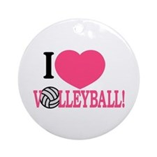 I Love Volleyball! Ornament (Round)
