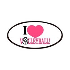 I Love Volleyball! Patch