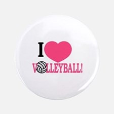 I Love Volleyball! Button