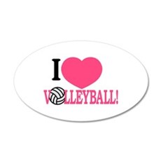 I Love Volleyball! Wall Decal