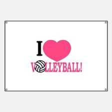 I Love Volleyball! Banner