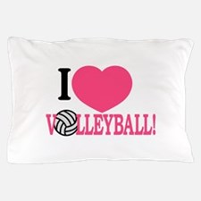 I Love Volleyball! Pillow Case