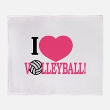 I Love Volleyball! Throw Blanket