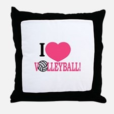 I Love Volleyball! Throw Pillow