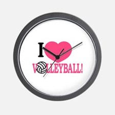 I Love Volleyball! Wall Clock