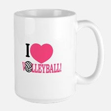 I Love Volleyball! Mugs