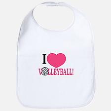 I Love Volleyball! Bib