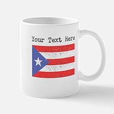 Puerto Rico Flag (Distressed) Mugs