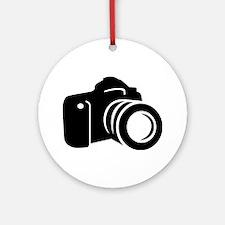 Photo reflex camera Ornament (Round)