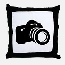 Photo reflex camera Throw Pillow