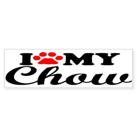 Chow - I Love My Bumper Sticker