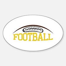Football Name Drop Decal