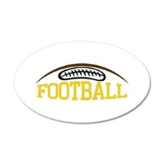 Football Name Drop Wall Decal