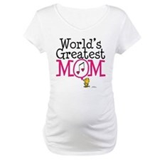 Woodstock - World's Greatest Mom Maternity T-Shirt