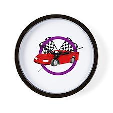 Race Car Logo Wall Clock