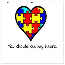 autism heart Poster