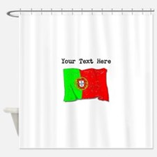 Portugal Flag (Distressed) Shower Curtain