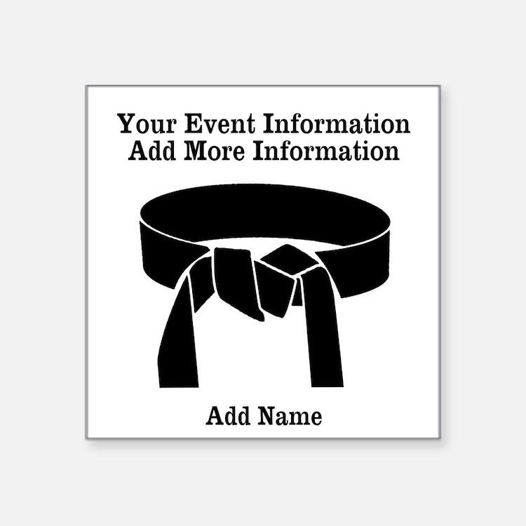 Karate Tournament Sticker