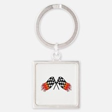Hot Crossed Flags Keychains