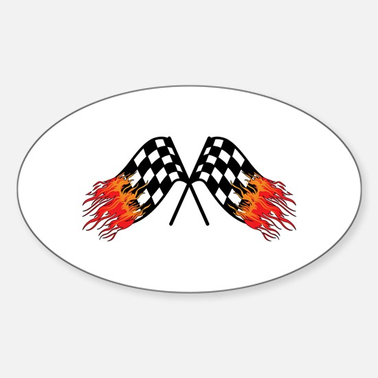 Hot Crossed Flags Decal